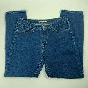 Levis Jeans Size 12 Mid Rise Skinny Dark Wash
